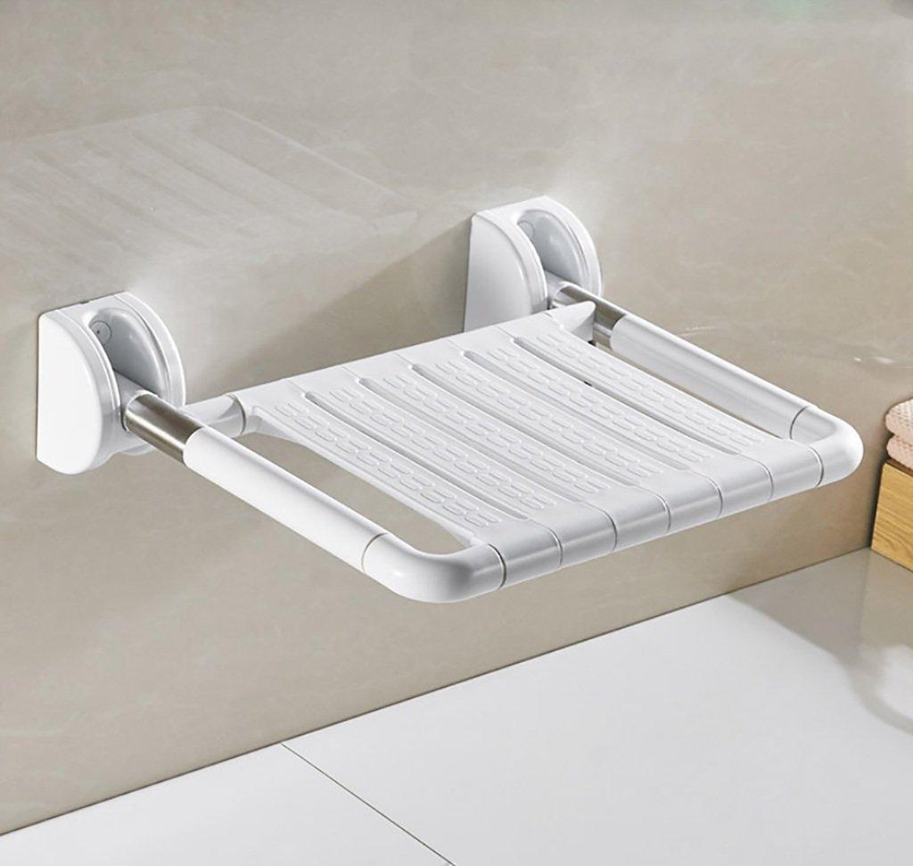 バスルームシャワー折りたたみチェアシートバスルームスリップバスウォールチェアウォールチェアウォールスツール (色 : A) B07GH8S5LX  A