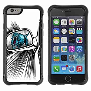 "A-type Arte & diseño Anti-Slip Shockproof TPU Fundas Cover Cubre Case para 4.7"" iPhone 6 ( Funny T-Rex Illustration )"