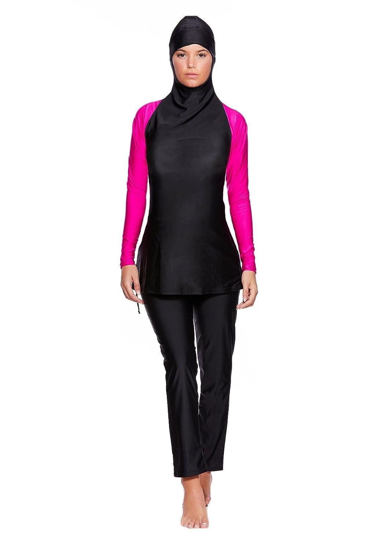 Muslimischer Vollk/örper Badeanzug Burkini//Islamische Badebekleidung Tesett/ür mit Hijab f5444 Versandhandel Henry Musch-Malinowski 2 TLG