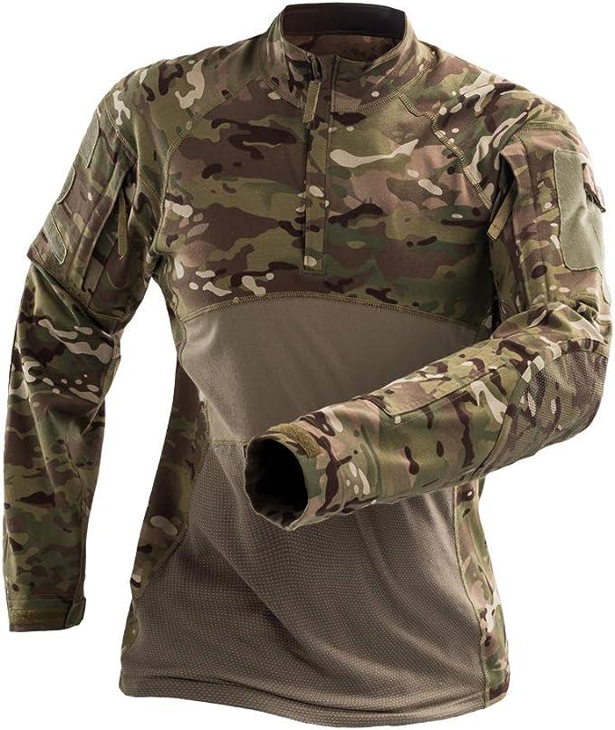 H World EU Camisa de Manga Larga Militar de Combate táctico de Caza con Cremallera para Hombre MC: Amazon.es: Deportes y aire libre