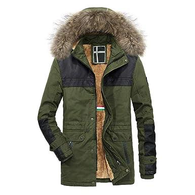 SOMESUN Herren Jacke Winter Warme Mantel Plüsch Winterjacke