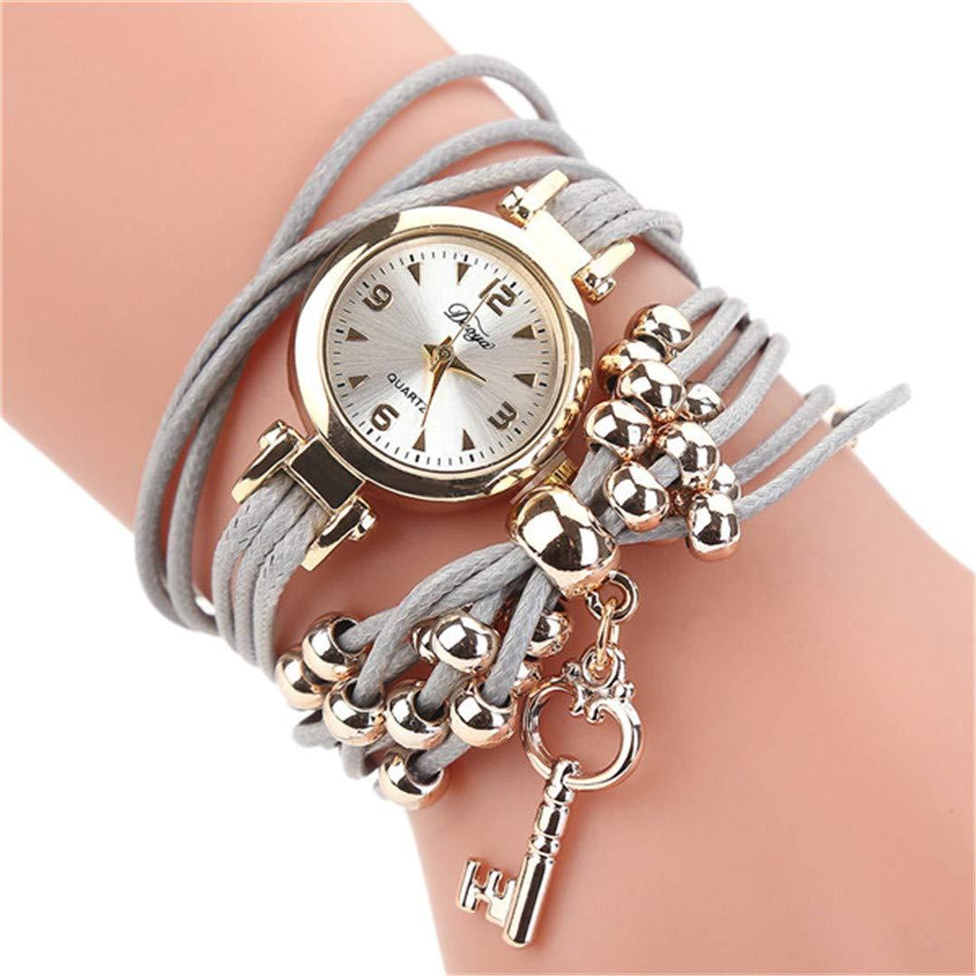Amazon.com: Women Watches Bracelet Watch Ladies Fashion Womens Dress Watches Slim Leather Circle Band Gold Dial Quartz Wristwatches P40 White: Beauty