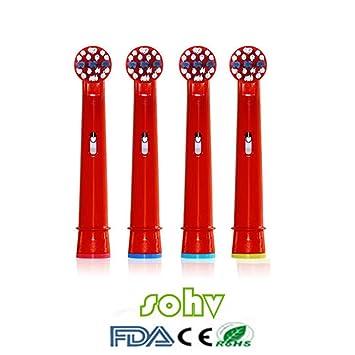 SOHV® estándar recambios cabezales para cepillos de dientes eléctricos para niños para para Braun Oral-B EB10 - 4,12pcs (3packs): Amazon.es: Salud y cuidado ...