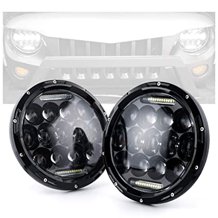 amazon com xprite 7 inch 75w cree led headlights for jeep wrangler