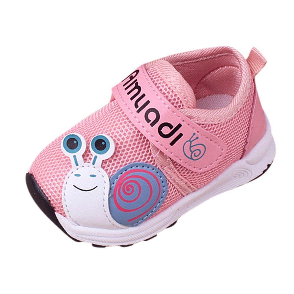 Anxinke Baby Boys Girls Cute Cartoon Sneakers Mesh Walking Shoes