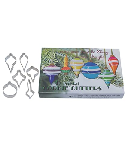 R M International 1882 Vintage Inspired Christmas Ornaments Cookie Cutters In Gift Box Assorted Styles 6 Piece Set