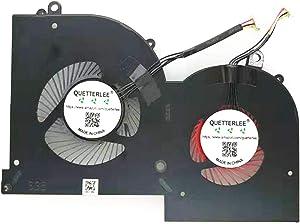 QUETTERLEE Replacement New Laptop GPU Cooling Fan for MSI GS65 GS65VR P65 MS-16Q1 MS-16Q2 MS-16Q3 Series 16Q2-GPU-CW E149618 BS5005HS-U3N GPU Fan