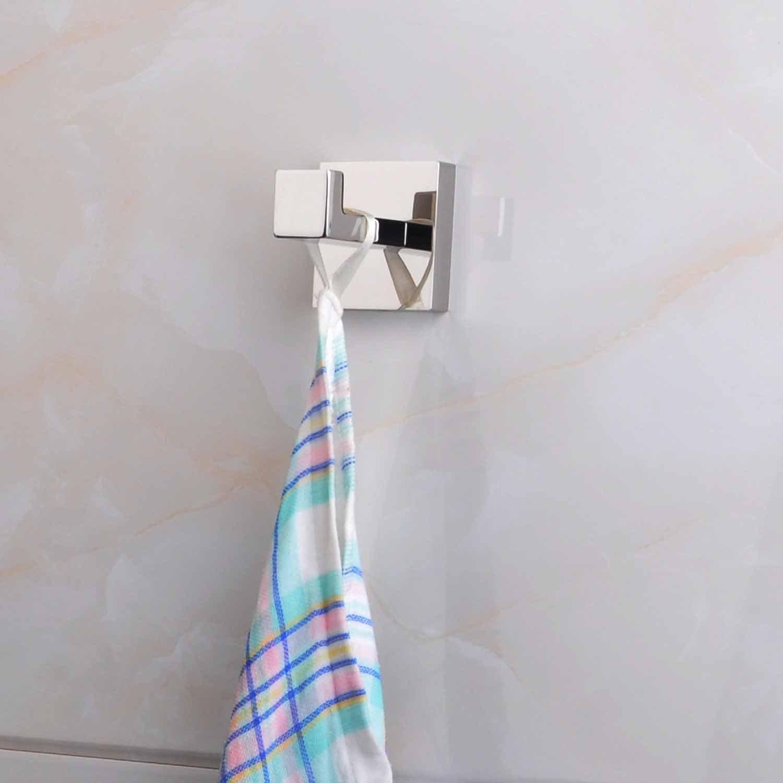 ThinkTop 5pcs Luxury 304 Stainless Steel Bathroom Single Towel Hook Robe Chrome Wall Mount Coat Hat Door Hook Hanger Mirror Polished Bathroom Accessories by ThinkTop (Image #5)