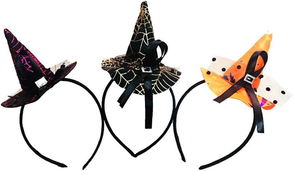 Weimay - Diadema de Halloween para niños y mujeres, diseño de brujas