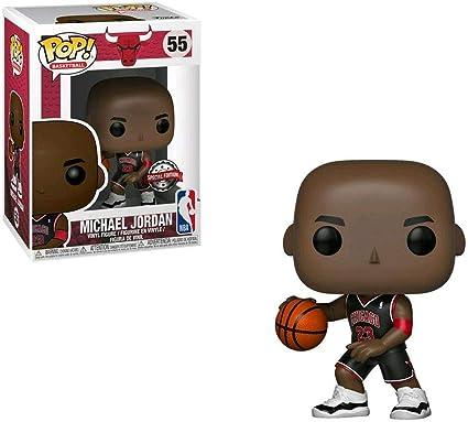 Amazon Com Pop Nba Bulls Michael Jordan Vinyl Figure Black Jersey 55 Exclusive Toys Games