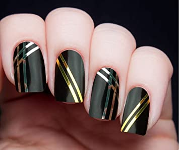 Amazon.com: Gold & Silver Metallic Striping Tape Kit: Beauty
