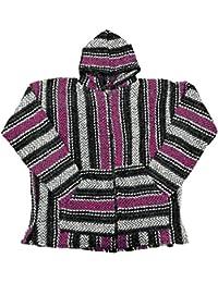 Baja Hoodie~ Original Mexican Deluxe Baja~ Huge Selection of Colors & Sizes!! (XL, Full Zip Pink)