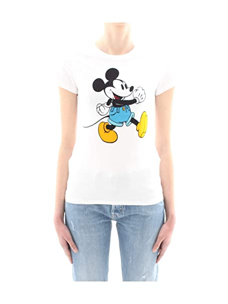 Levis® - Camiseta Levis Mickey Mujer Color: 0613 Blanca Talla: Size XXS