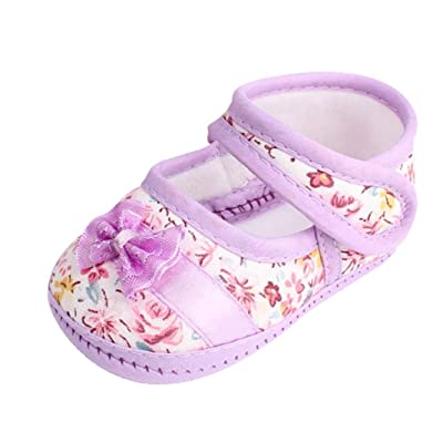 Witspace Infant Baby Girl Soft Sole Bowknot Crib Shoes Toddler Kids Anti-Slip Flat Shoes: Clothing