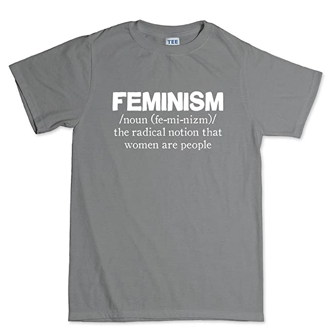 Customised_Perfection feministas feminismo mujeres definición - Funny Sarcastic broma T Shirt (T) - Gris -: Amazon.es: Ropa y accesorios