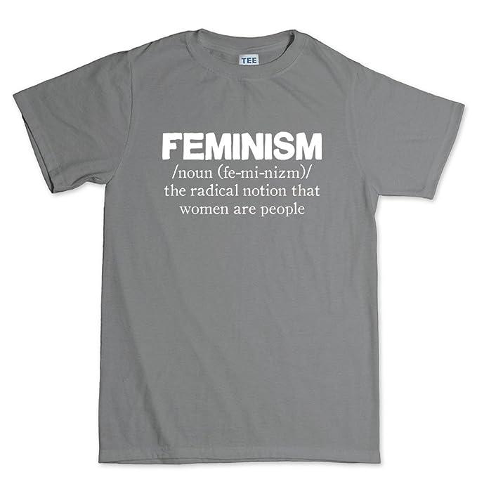 Customised_Perfection feministas feminismo mujeres definición - Funny Sarcastic broma T Shirt (T) - Gris -: Amazon.es: Ropa y accesorios