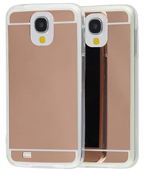 watch 7a933 b05aa Galaxy S4 case , Rose Gold Mirror Bling Glitter Elegant Luxury Soft Thin  TPU with Mirror Cover Case for Samsung Galaxy S4 I9500 (S4 Rosegold)