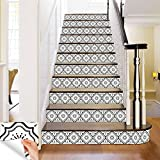 Black & white collection Peel and Stick Tile Stickers 24 PC Set backsplash Tile Decals Bathroom & Kitchen Vinyl Wall Decals Easy to Apply Just Peel & Stick Home Decor (Black & white B5, 6x6 Inch)