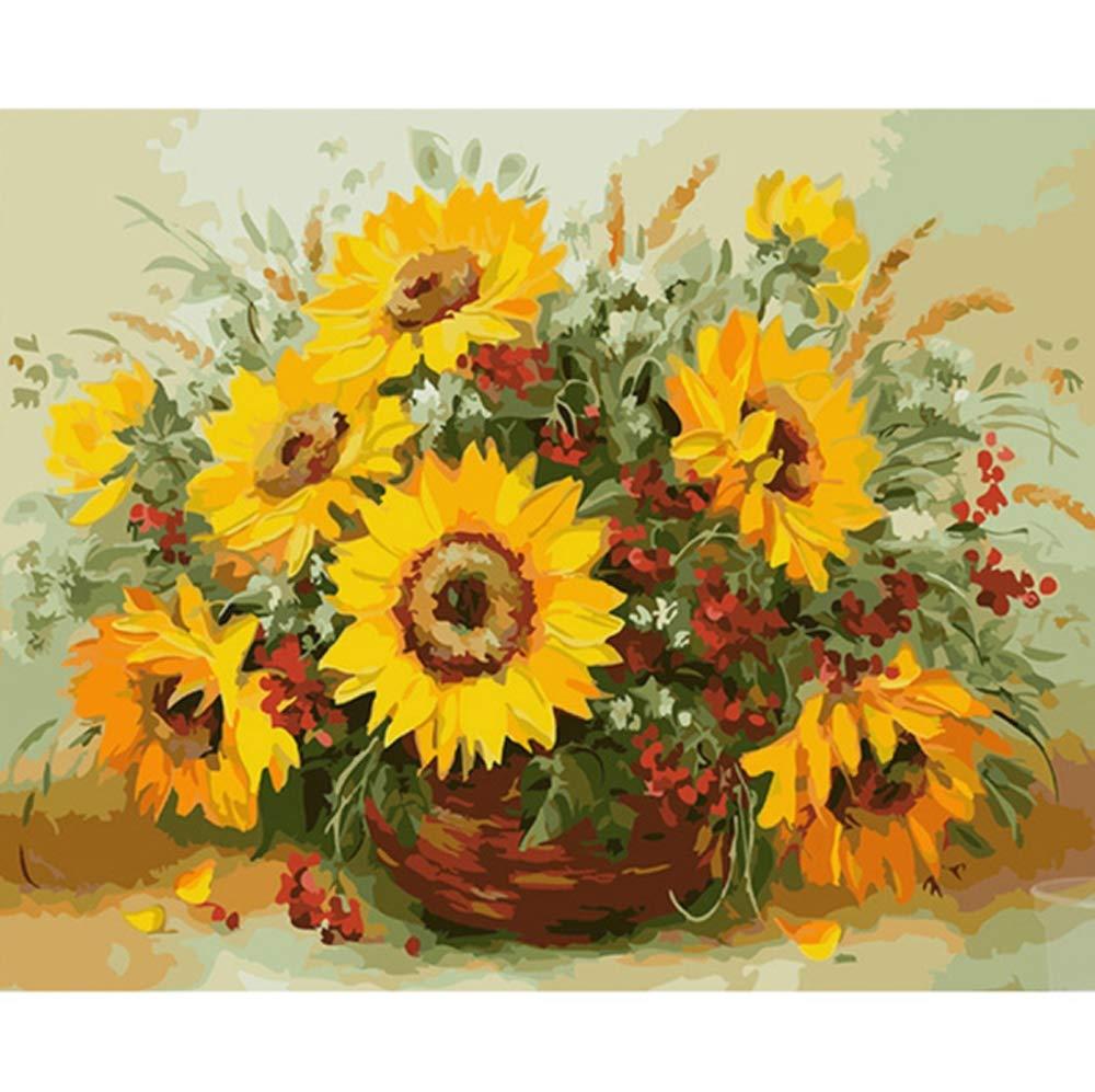 CHRRI DIY Digital Painting Set, Paint Digital DIY Ölmalerei Farbe Leinwand Drucken Wandkünstler Lebensdekoration B07Q237V55 | Qualität zuerst