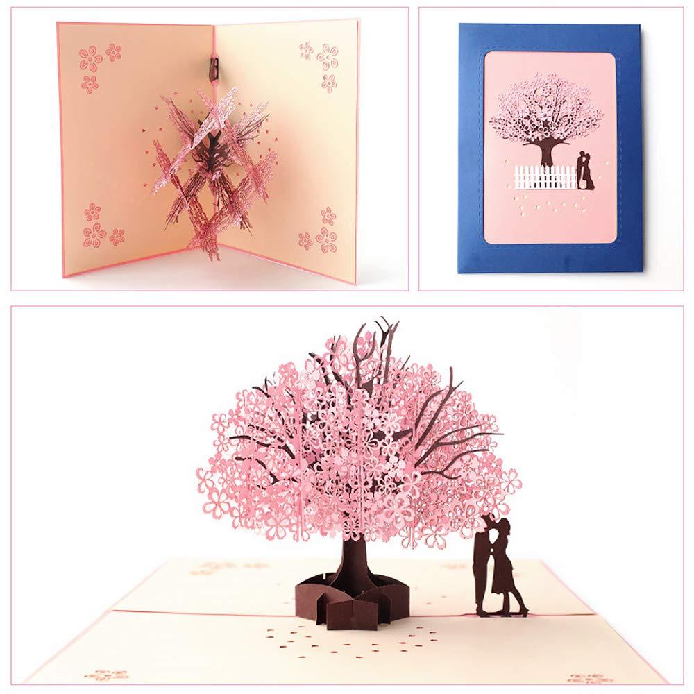 A Biglietto dAuguri Matrimonio dAmore per Compleanno Romantico Anniversario Nozze Carta 3D Pop-up