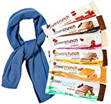 #9: LIMITED TIME Power Crunch Protein Energy Bar Variety Flavors Pack Gift Care Box (Pack of 6) Each of 1.4-Ounce Bar Includes Sport Cooling Towel