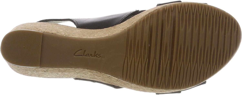 Clarks Annaald Ivory Slingback sandalen voor dames zwart zwart leer.