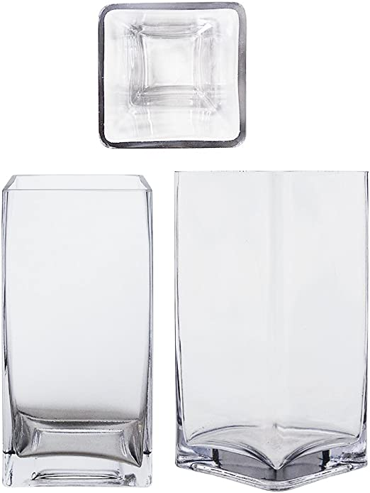 """18 pcs Square Glass Vase Cube  2 Inch Candle Holder 2/"""" x 2/"""" x 2/"""" Centerpiece"""