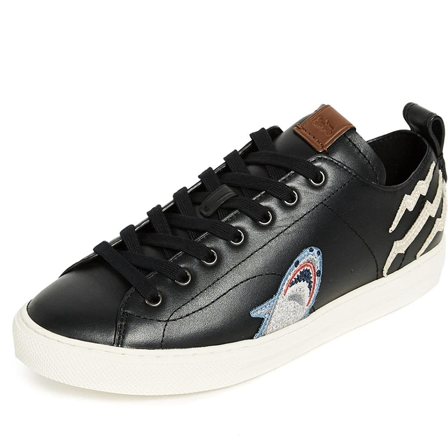(コーチ) Coach New York メンズ シューズ靴 スニーカー Sharkie Patched C121 Low Top Sneakers [並行輸入品] B07C7ZMRGC