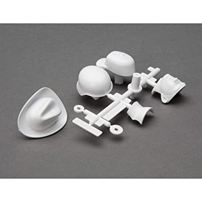 Axial Drivers Head and Hat Set (White), AXI31635: Toys & Games