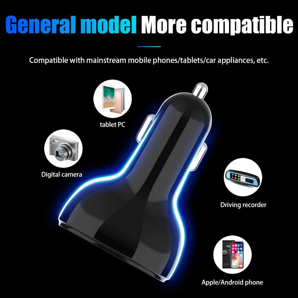 Hi-ERA USB C Car Charger 12V 24V Dual QC 3.0 USB Quick Charge Adapter Type C Power Delivery 32W in Total Fast Charges with LED LCD Display Low Voltage Warning for Samsung iPhone LG Google and More