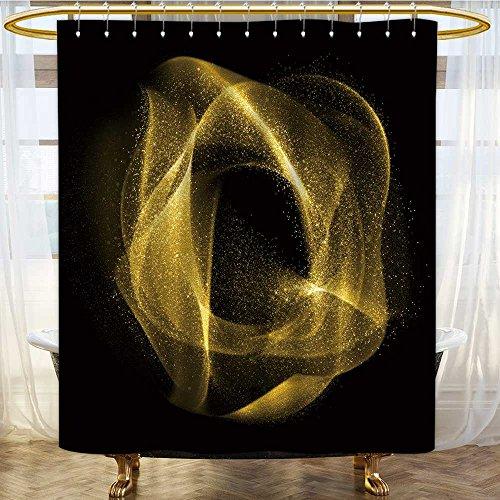 (Shower Curtains 3D Digital Printing g Glitter Wavy Gas Star dust Custom Made Shower Curtain W72 x H78 inch)