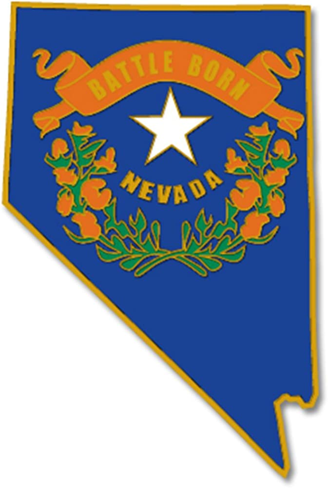 Amazon Com Pinmart State Shape Of Nevada And Nevada Flag Lapel Pin Jewelry
