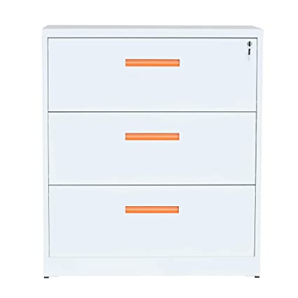 Excellent Modernluxe Lateral File Cabinet With Lock 3 Drawer Filing Cabinet For Office Home White Metal Download Free Architecture Designs Intelgarnamadebymaigaardcom