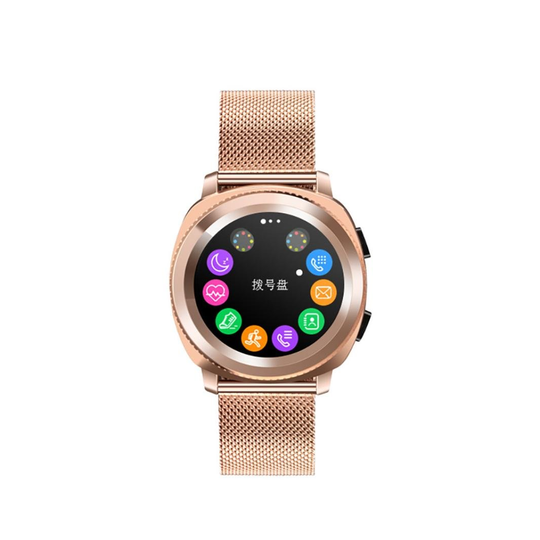 Sonmer Smart Fitness Tracker, Activity Tracker with Heart Rate Monitor Watch, IP68 Waterproof Smart Wristband with Touch Screen Watch Pedometer Sleep Monitor for Kids Women Men (Rose Gold)