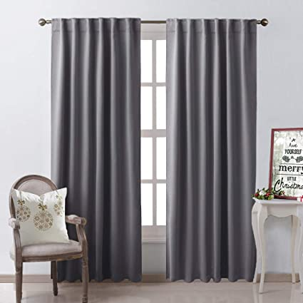 Amazon Com Nicetown Bedroom Curtains Blackout Curtain Panels