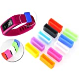 Shopready Silicone Fastener Ring for Garmin Vivofit Wristband Bracelet (10 Pack, Mixed Color)