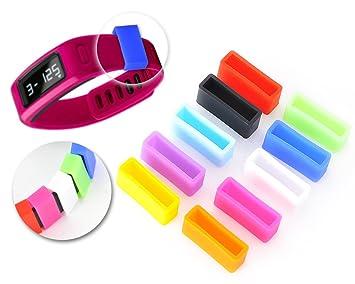 DSstyles sujetador anillo 10 piezas de silicona coloridas sujetador para garmin vivofit pulsera brazalete: Amazon.es: Deportes y aire libre