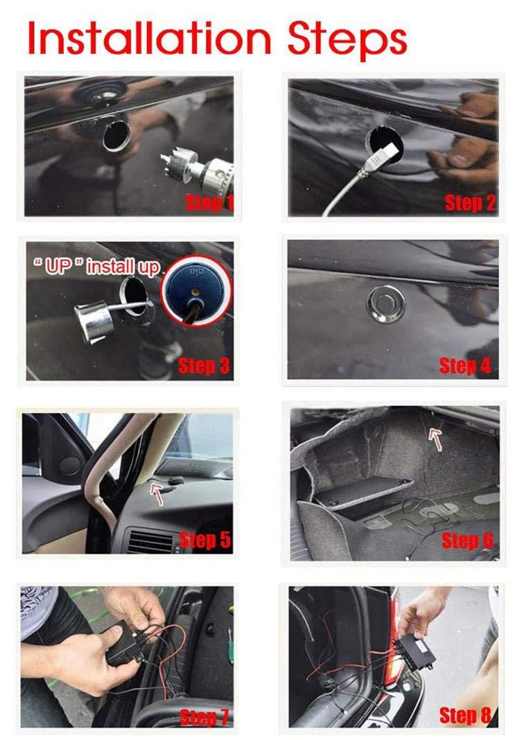 Sonmer Car Reversing Parking Radar Sensor, With 4 Sensors Audio Buzzer Sound Alarm (Silver) by Sonmer (Image #4)