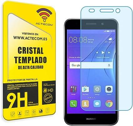 actecom Cristal Templado Protector Pantalla Huawei Y5 Lite 2018 ...