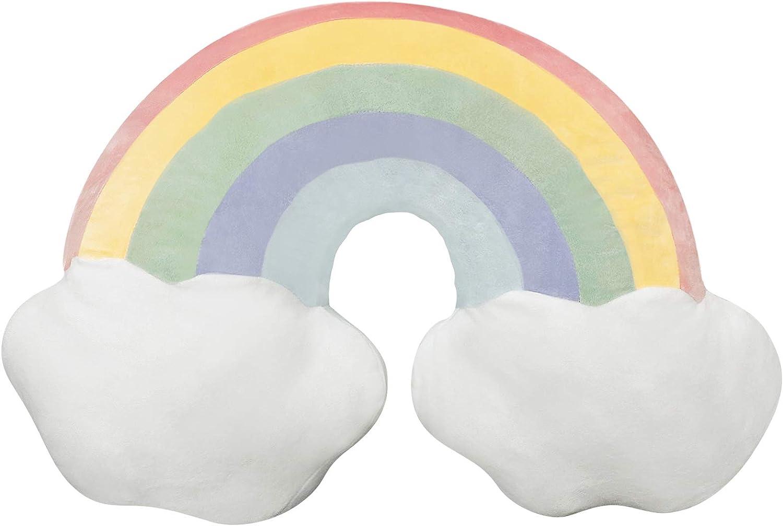 TUAHOUS Rainbow Shaped Pillow, Home Decorative Creative Cushion Cloud Rainbow Shaped Pillow for Girls -20inch