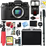 Fujifilm X-T2 24.3MP Mirrorless Digital Camera (Body Only) + 64GB Memory & Flash Accessory Bundle