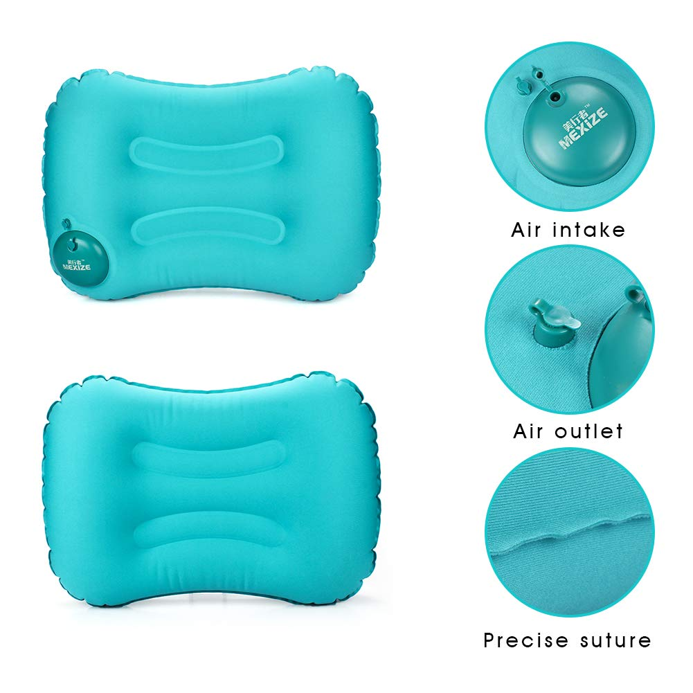 Ergonomic Pillow for Neck/&Lumbar Support While Camping,Traveling,Hiking,Backpacking/&Airplanes Outry Ultralight Self-Inflating Camping//Travel Pillow