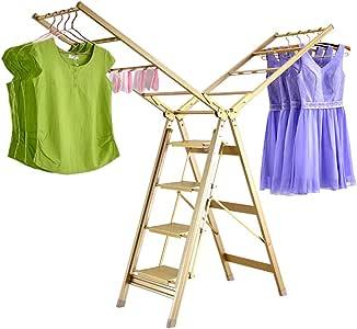 LXLTL Tendedero Aluminio, Dos en uno Escalera y Tendederos con Alas Plegables Tendedero de Balcónestante para Secado de Ropa,FiveStepsClothesAirer: Amazon.es: Hogar