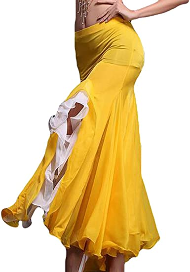 YiJee Danza del Vientre Falda Abrir Belly Dance Larga Falda de la ...