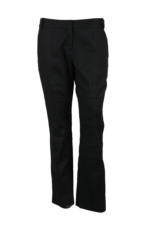 Diane von Furstenberg Womens Black Carissa Straight Cropped Pants 10