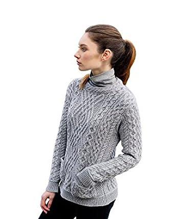 d4deb4063ed6 Irish Aran Knitwear 100% Irish Merino Wool Women s Cable Knit ...