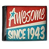 Wallet Awesome since 1943, Birthday/Year, RFID Men's Bifold ID Case - Neonblond