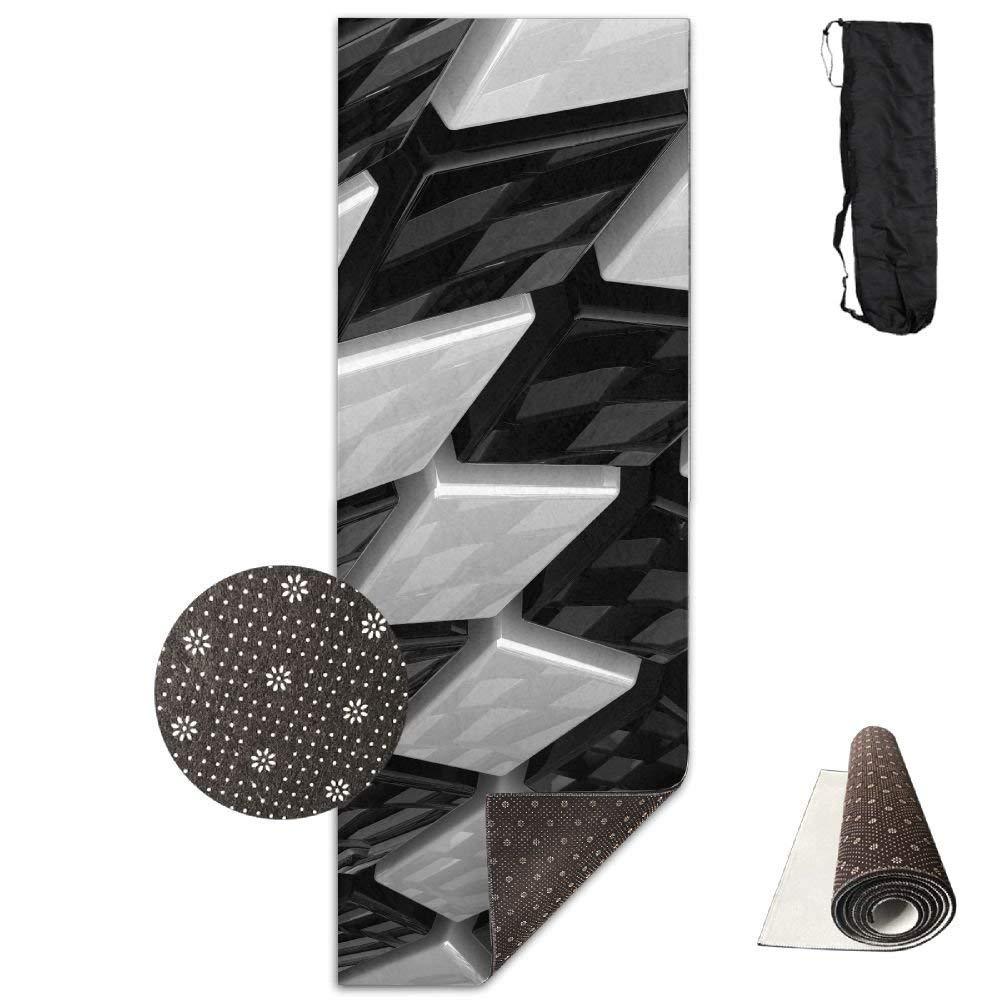 Vercxy - Esterilla de Yoga con Forma de Cubos, Color Negro ...