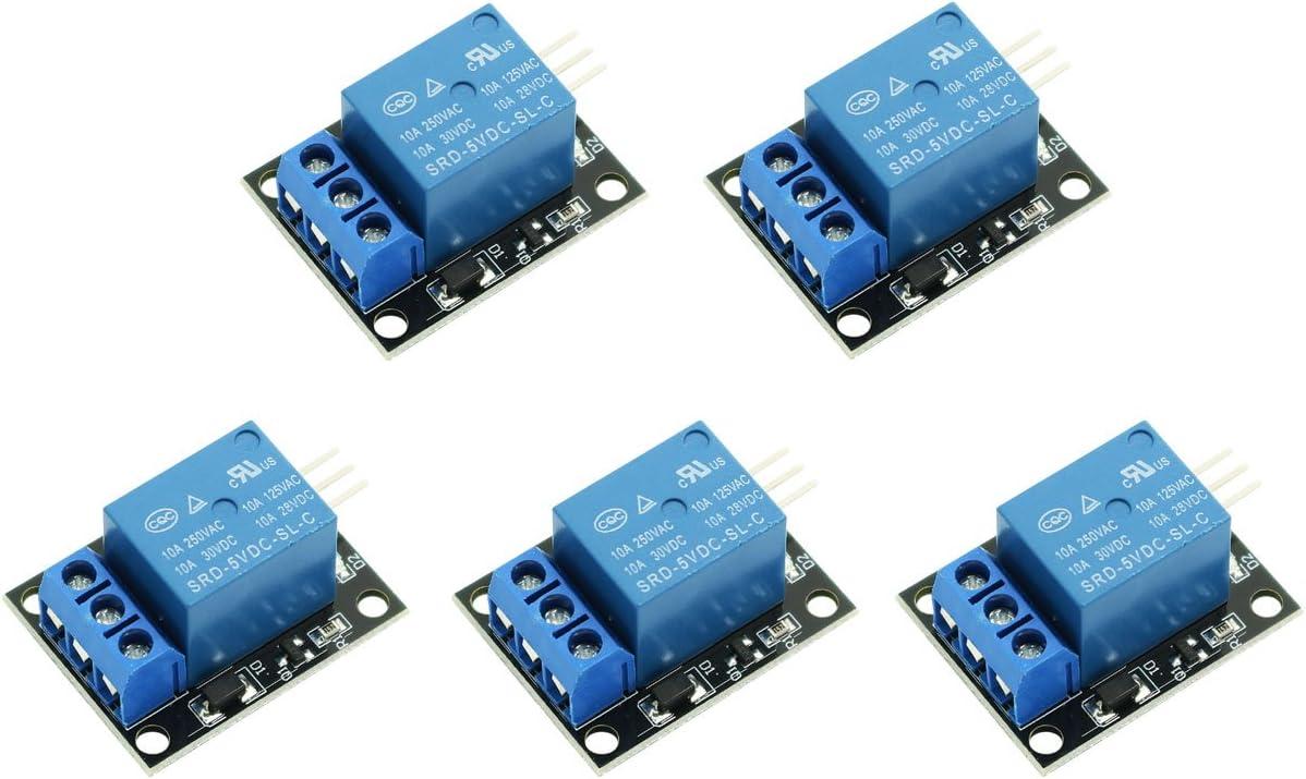 WINGONEER® 5PCS KY-019 5V Escudo de Placa de módulo de relé de 1 Canal para PIC AVR DSP Arm para arduino Relay