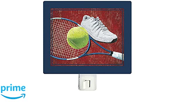 Amazon.com: Oopsy Daisy Believe, Achieve-Tennis 5x4 Night Lights, by Lori Siebert: Home & Kitchen